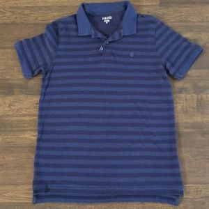 Izod Blue Striped Polo Shirt Size Medium